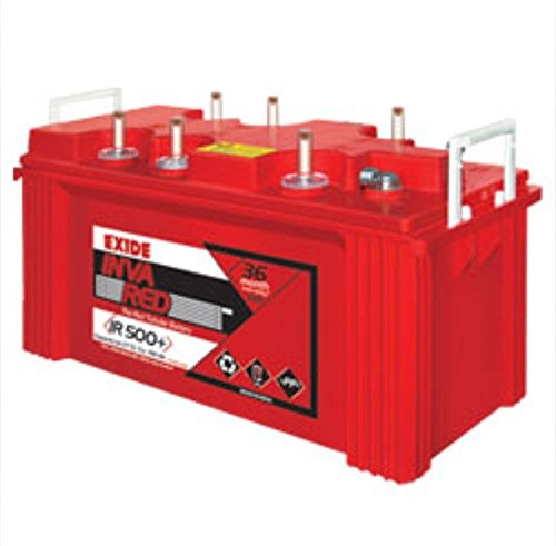 Exide Technologies Inva Red 500 Plus 150 Ah Tall Tubular Battery - 69 Ounce Red
