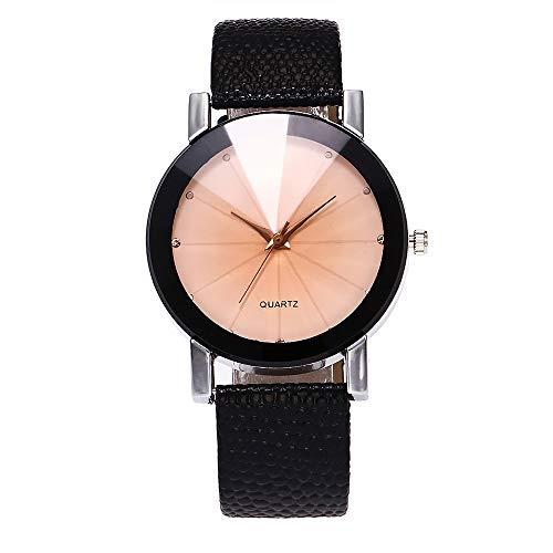 Ausverkauf Fashion Damen Armbanduhr, Frauen Einfache Ultradünn Lederarmband Analog Quarz Uhr Quarzuhr Damenuhr für Urlaub/Geburtstag Geschenke LEEDY 2019 Neu