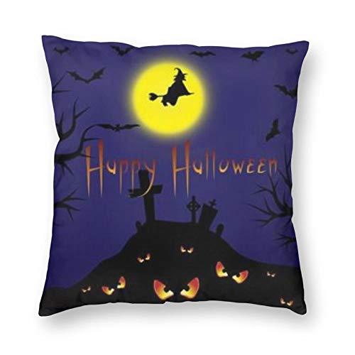 DESIGNS - Funda de cojín para Halloween, esta noche, decoración del hogar, para hombres, mujeres, niños, niñas, sala de estar, dormitorio, sofá de 60 x 60 cm