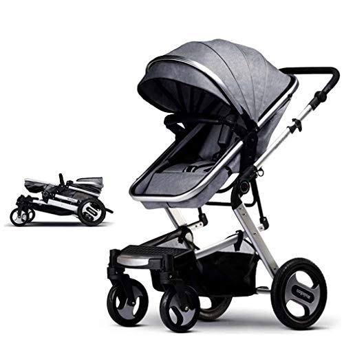 LFFCC Kinderwagen Pram Wagen Spaziergänger, Cynebaby All Terrain Vista City Select Kinderwagen Kinderwagen Compact Cabrio Kinderwagen,Grau