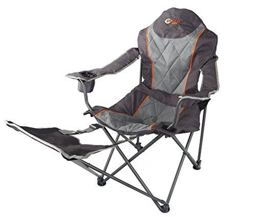 Portal Ole XL campingstoel, klapstoel, tuinstoel, voetsteun, leuning verstelbaar