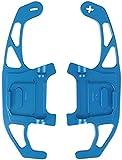 JHZQK, para VW, para Golf MK7, para Polo, para Scirocco 2 unids/Set Cubierta de Cambio de extensión de Paleta de Volante-Azul