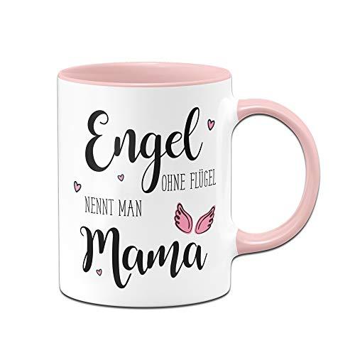 Tassenbrennerei Tasse Engel ohne Flügel nennt Man Mama, Geschenk zum Muttertag oder Geburtstag (Rosa)