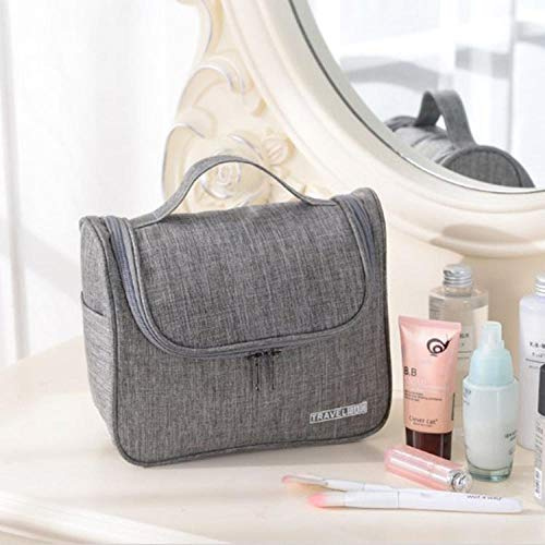 Trousse de maquillage de voyage Amazon Cosmetic Bag Etui Organizer Pouch for Women @Grey