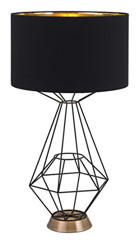 Zuo 56086 Delancey Table Lamp, Black