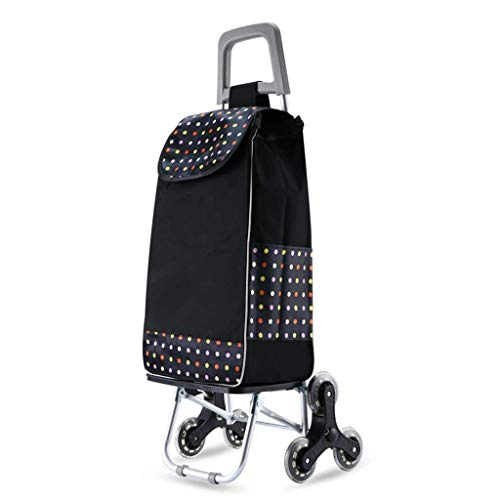 Storage Shopping Cart Small Pull Cart Hand Luggage Cart Shopping Trolley Household Trolley Trailer Foldable Crystal Wheel Supermarket Aluminum Alloy Kit