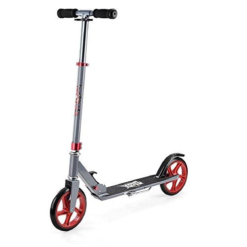 Xootz Big Wheel Scooter for Kids, Foldable with Adjustable Handlebars -...