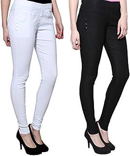 KIBA RETAIL Women's Slim Fit Jegging (Pack of 2)