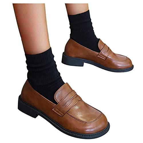 Zapatos Los Zapatos De Cuero Para Mujer Mocasines Zapatos Planos Informales Zapatos De Guisantes Zapatillas De Deporte Planas Poco Profundas Transpirables De Un Solo Paso Para Mujer Calzados