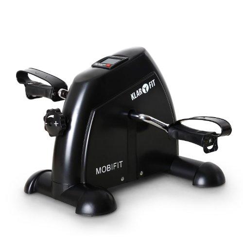 Klarfit 2 G Mini Bike Brazo - y la Pierna de Entrenamiento de Fuerza - y la Resistencia de Entrenamiento (Incluido Ordenador de Entrenamiento Negro