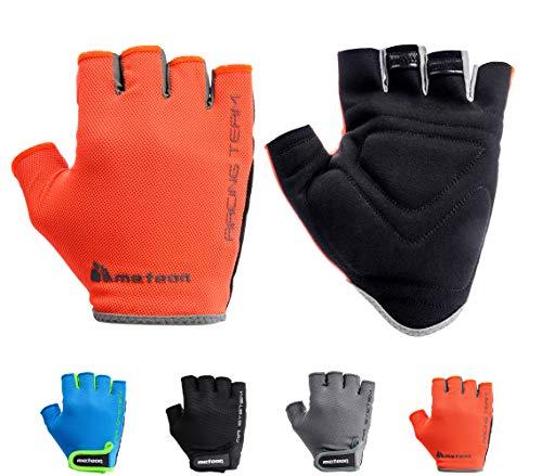 Meteor Cycling Gloves Fietshandschoenen MTB handschoenen Heren Gel Green Fietshandschoenen Mountainbike handschoenen wielersport handschoenen dames wielersport handschoenen Downhill Fietshandschoenen Kinderen
