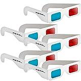PEARL 3Dbrille: 3D-Brillen rot/Cyan im praktischen 5er-Spar-Paket (3Dbrillen)