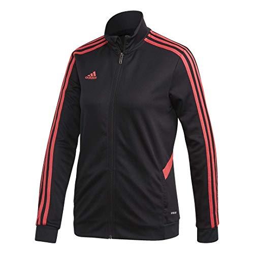 adidas Damen Tiro Trainingsjacke, Damen, Jacke, Football-Soccer Tiro Trackjacket Women, Schwarz / Pink, Small