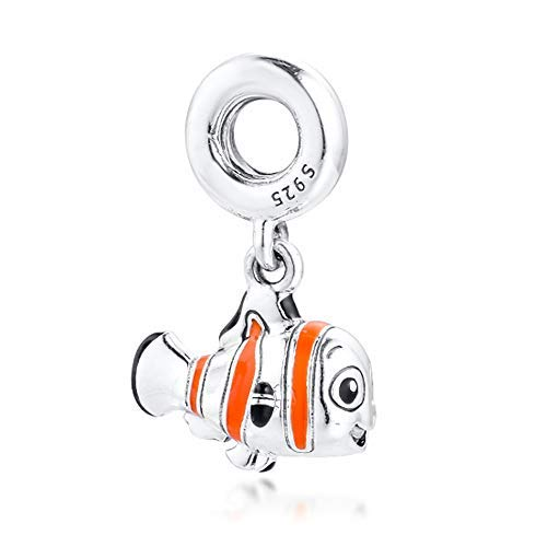 Encontrar a Nemo Charm de plata 925 compatible con Pandora Charms, pulsera de cadena de plata, Trollbeads, Chamilia y Biagi.