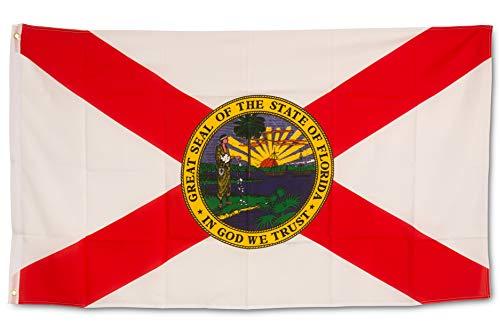 SCAMODA Bundes- und Länderflagge aus wetterfestem Material mit Metallösen (Florida) 150x90cm