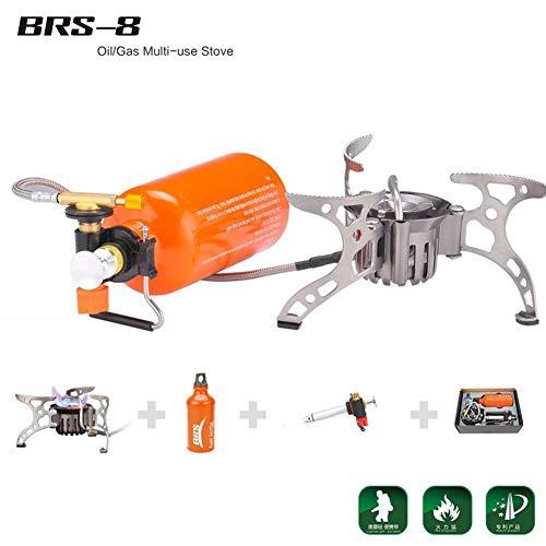 Gocher BRS - Estufa portátil de gas de petróleo y combustible para exteriores, picnic, senderismo, camping, estufa de gas, horno de gasolina BRS-8
