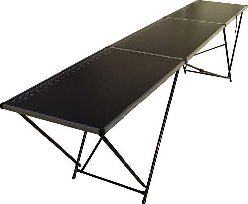 faltbarer Tapeziertisch mit Stahlgestell und MDF-Arbeitsplatten, Mehrzwecktisch, Flohmarkttisch, Malertisch, Klapptisch, Partytisch