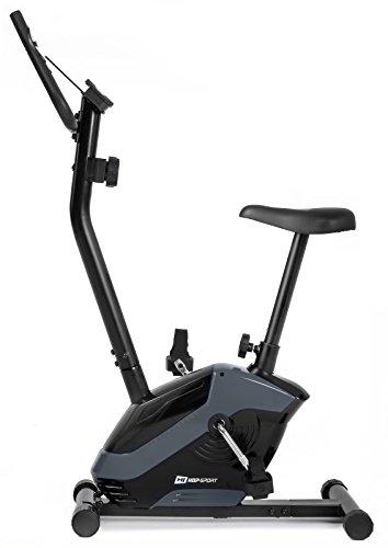 Hop-Sport HS-045H EOS Heimtrainer Fahrrad für Zuhause - kompaktes Fitnessbike mit Pulssensoren und Tablethalterung - Fitnessfahhrad mit Trainingscomputer für EIN max. Nutzergewicht von 120kg Grau