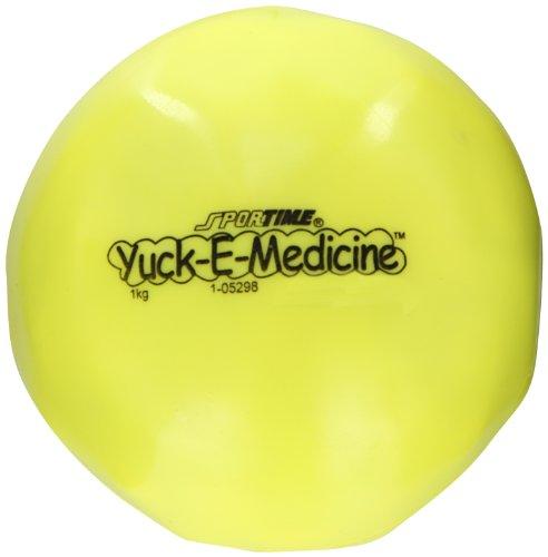 Sportime Yuck-E-Medicine Ball, 5 Inches, 2-1/5 Pounds, Yellow - 021252