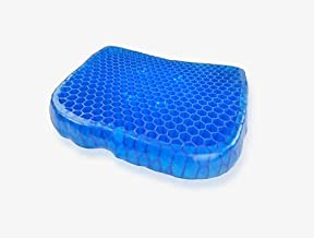 Egg Sitter Home Office Seat Support Gel Cushion, Blue, H35.4 x W37.6 x D5 cm