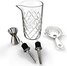 3 Gold XL Square Ice Cubes Stainless Steel Reusable Velvet Pouch Tongs 3 Silver 2 Large Twist Crystal Scotch Glasses Whiskey Stones Gift Set With Rock Glass In Elegant Leather Box by LANFULA