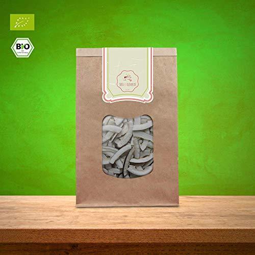 süssundclever.de® Kokosstreifen Bio | 1 kg ( 2 x 500g) | Premium Qualität: hochwertiges Naturprodukt | plastikfrei abgepackt in ökologisch-nachhaltiger Bio-Verpackung | Kokosnussstreifen