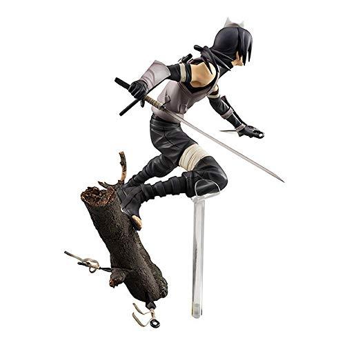 ZHAOHUIFANG Naruto Shippuden Uchiha Itachi Schatten Statue Anime-Cartoon-Figur Modell Lieferungs-Dekoration 20cm