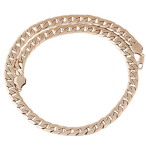 AMOZ Collares para Mujer Amp, Colgantes, Hip Hop Collar de Eslabones de 11 Mm Joyería de Moda...