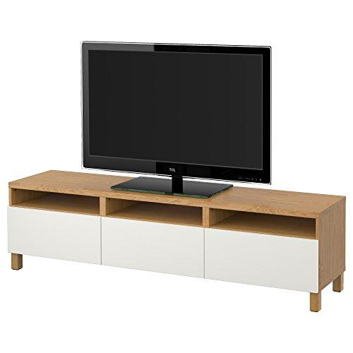 Ikea BESTA - TV-Bank mit Schubladen Eiche Effekt/lappviken weiß