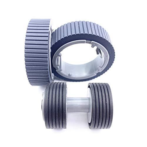 Case of 10 Packs,OKLILI Brake Roller Pick Pickup Roller Set Compatible with fi-7160/fi-7260/fi-7140/fi-7240/fi-7180/fi-7280 fi-7300NX P/N:PA03670-0001 PA03670-0002