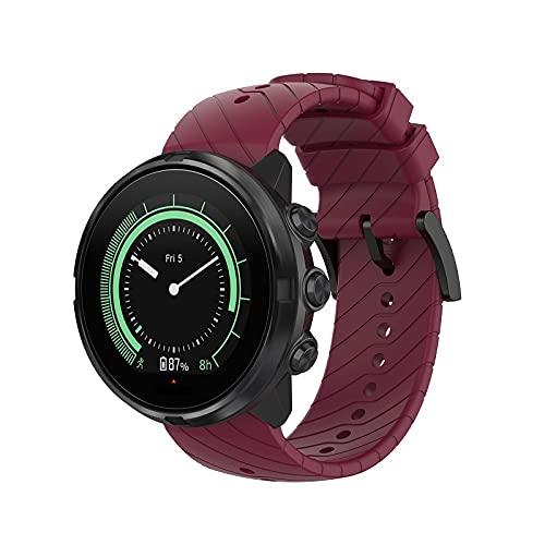 Chainfo Compatible con Suunto Spartan Sport Wrist HR / 9/9 Baro / 7 Correa de Reloj, Banda de Reemplazo Silicona Suave Sports Pulsera (Pattern 5)