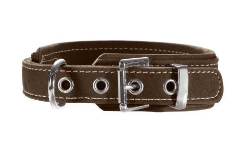 HUNTER HUNTING COMFORT Hundehalsband, Leder, Zugentlastung, weich, robust, 55 (M-L), braun