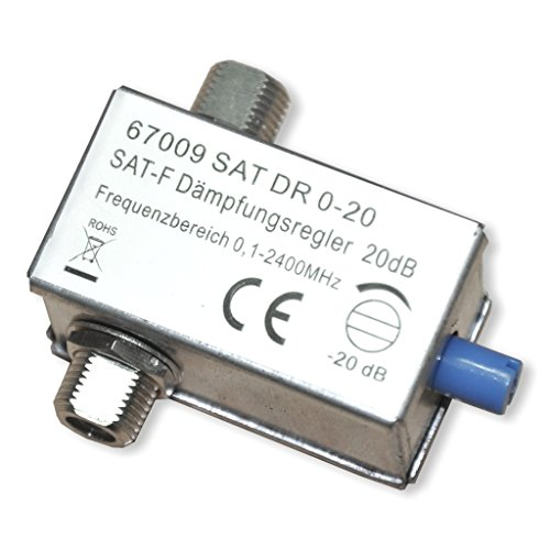 Wentronic Dämpfungsregler, 0-20 dB, F-Kupplg/-F-Kupplg; SAT DR 0-20