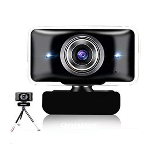 720P Camera Webcams met verstelbare stevige basis en statief, Streaming Computer Video Web camera met dubbele Night Vision Lamp, Ingebouwde Mic