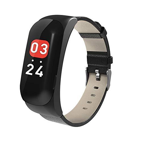 WYXIN Bluetooth Headphone Smart Bracelet 2 in 1, Smart Watch,Wireless Sport Earphone,Intelligent Voice,Fitness Tracker with Heart Rate Blood Pressure Sleep Health for Men,Women,Black