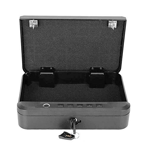 FEEE-ZC Caja Fuerte portátil, Caja del Almacenamiento de los Objetos de Valor de la joyería del Coche de la Pistola del App de Bluetooth de la contraseña de la Huella Dactilar