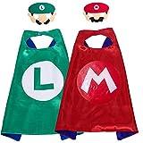 Disfraces de Super Mario para niños Super Mario Capes Máscaras de fiesta Juguetes de Super Mario Favores de fiesta de personajes de cosplay Máscaras de héroes para disfraces de Halloween Suministros