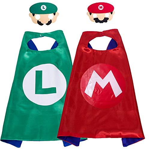 Miotlsy Super Mario Costumi per Bambini Super Mario Mantelle Maschere per Festeper Mario Toys Cosplay Character Bomboniere per Feste