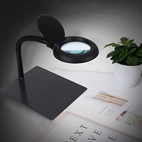 Labuduo Lámpara de Escritorio LED de Brazo Flexible electrónico, 18 W, 40 Piezas, lámpara de Aumento de 15 aumentos de Cuentas LED, Placa de impresión con(US Standard 110V)