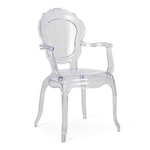 Pureday miaVILLA Stuhl Olek - Glasklar - Polycarbonat - ca. B54 x T54 x H97 cm