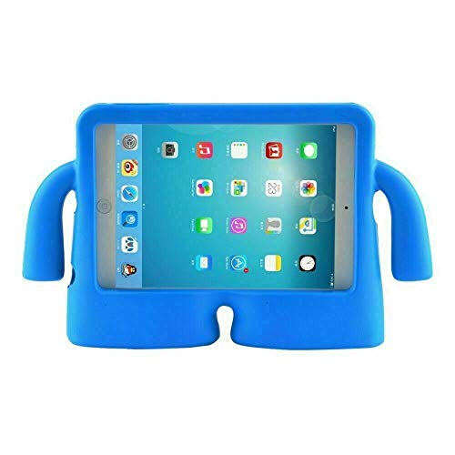 iPad Kids Case Heavy Duty Shock Proof iPad Kids Cover Rubber Case 8 colours (For iPad 2/3/4, Blue)