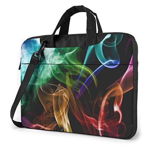Kleur rook laptoptas tas schoudertas 15,6 inch messenger dragen aktetas handtas mouwen