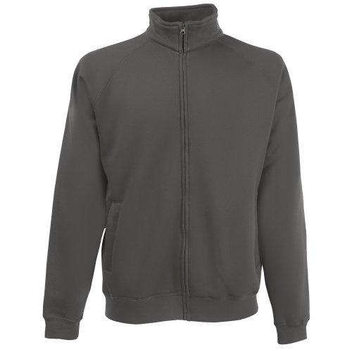 Fruit of the Loom Mens Mens Premium 70/30 Full Zip Sweatshirt Jacket Light Graphite L