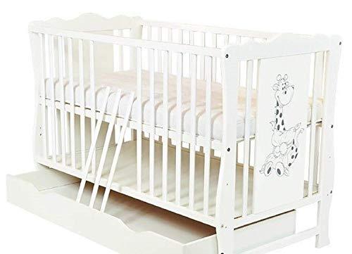 Cama para cuna con cajón para bebé «Diana», colchón Danpol de lujo opcional