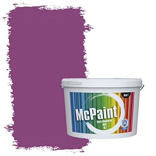 McPaint Bunte Wandfarbe Grapefruit - 10 Liter - Weitere Violette Farbtöne Erhältlich - Weitere Größen Verfügbar