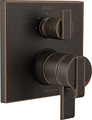 Delta Faucet Ara 17 Series Dual-Function Shower Handle Valve Trim Kit with 3-Setting Integrated Diverter, Venetian Bronze T27867-RB (Valve Not Included)