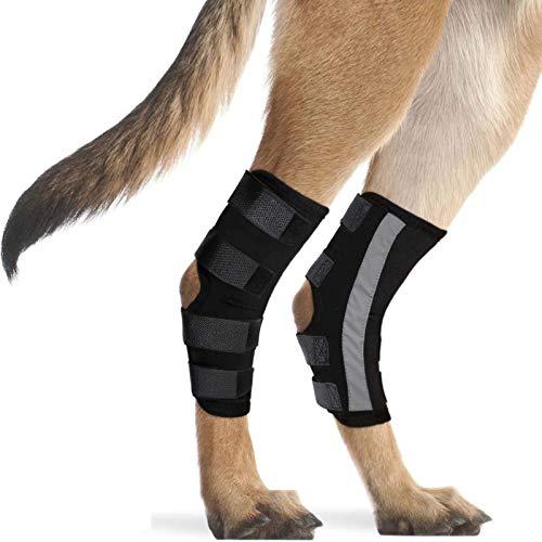 Dog Knee Support Sleeve Dog Reflective Wrap Dog...