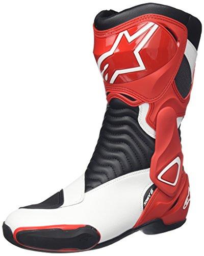 STIVALI MOTO ALPINESTARS SMX 6 RACING PELLE (45, NERO)