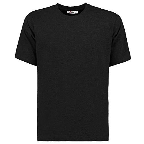 Tony Brown Herren T-Shirt Rundhals | Schwarz | Shirt | Unifarben | Basic Shirt | 100{b81e9a0d45e626678de9804fb1dc2997403266b7af102b70b049d79e4a2ca400} Baumwolle | Kurzarm (3XL, 1er Set)