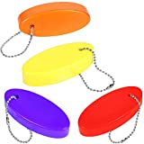 Foam Floating Key Chain, Rescue Tube Float Keychain Floating Key Chains for Boating Fishing Kite Surfing Sailing and Outdoor Sports (4)